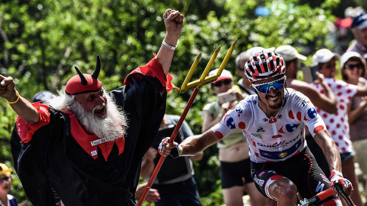Fans are renowned for getting up close and personal at the Tour de France.
