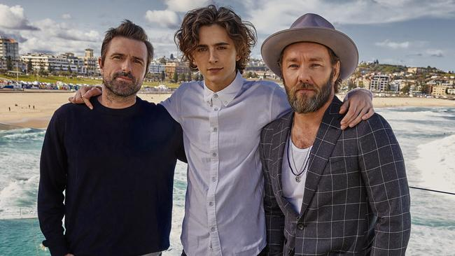 The King's David Michod, Timothee Chalamet and Joel Edgerton were in Sydney this week for the Australian premiere