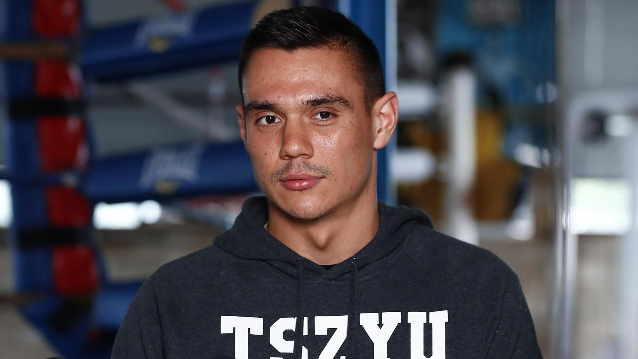 Tim Tszyu faces the media for the final time before Wednesday night's showdown in Newcastle.