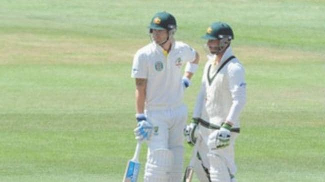 'You'll be with me every time I go out,' Clarke wrote with this photo of him and Hughes batting together. Picture: Michael Clarke, Instagram.