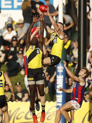 Callum Moore was Richmond's x-factor up forward in the final term. Picture: AAP