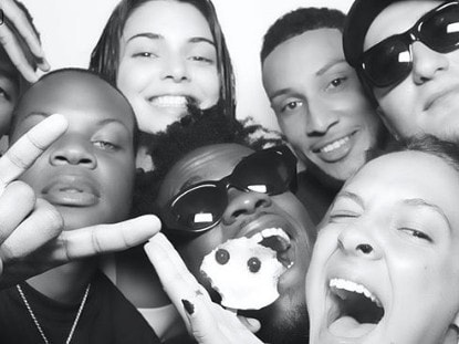 Ben Simmons and Kendall Jenner at Khloe Kardashian's 4th of July party. Picture: Instagram