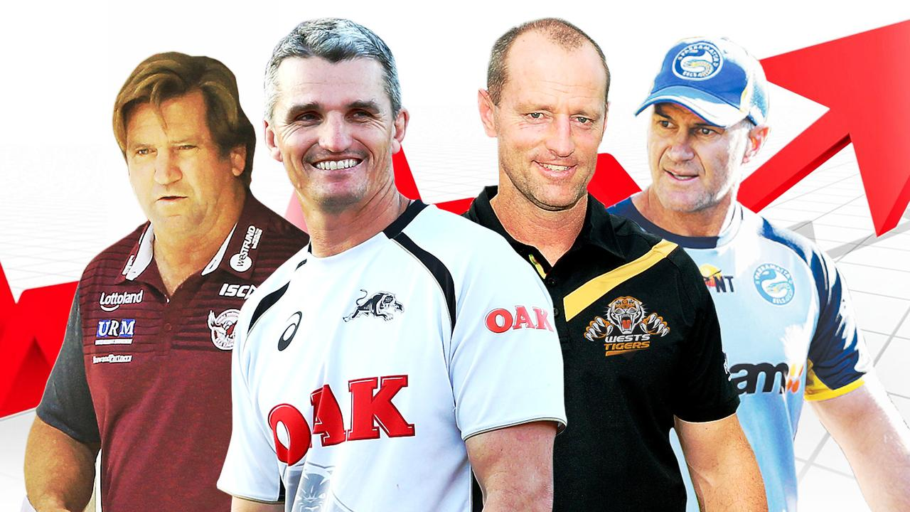 Des Hasler, Ivan Cleary, Michael Maguire and Brad Arthur will be under pressure in 2019.