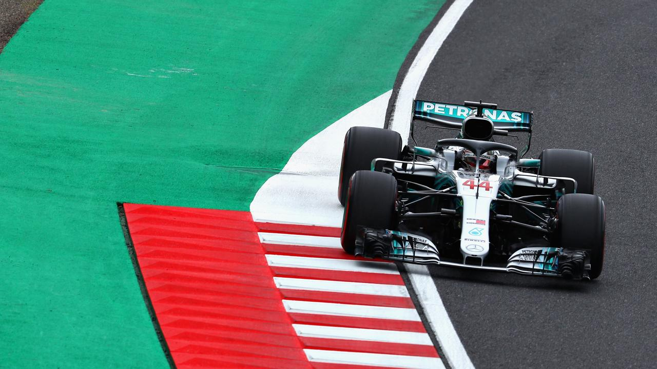 Lewis Hamilton made it a hat-trick of quickest practice times in Japan on Saturday.