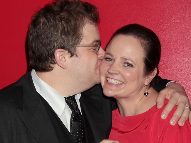 In love ... Patton Oswalt and Michelle McNamara. Picture: Splash