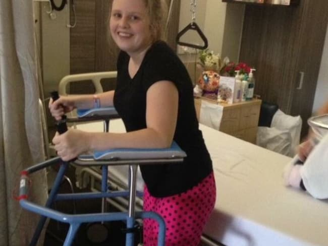 Doctors told Ms Kaiser she was lucky to walk again. Picture: GoFundMe
