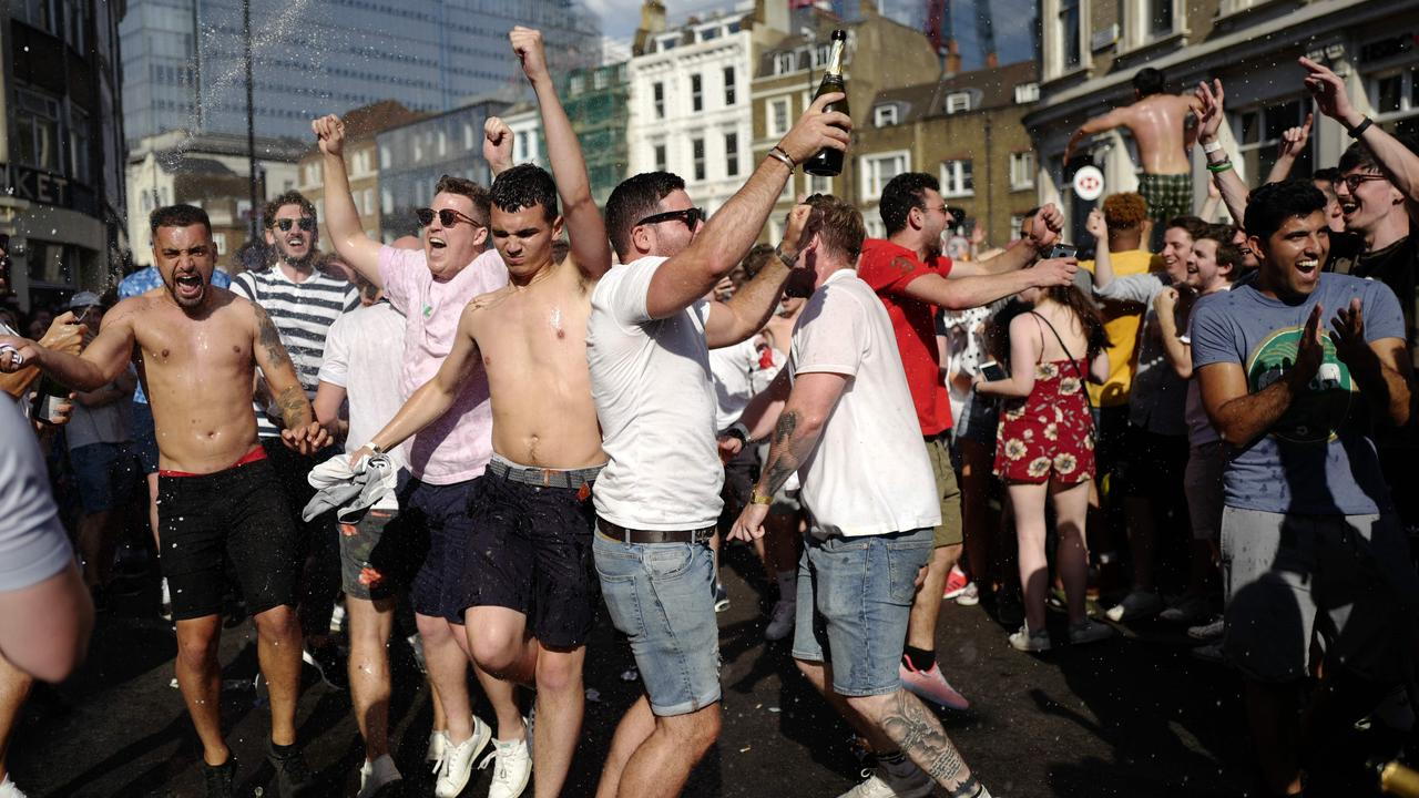 Party time in London as England qualify for the semi-finals.