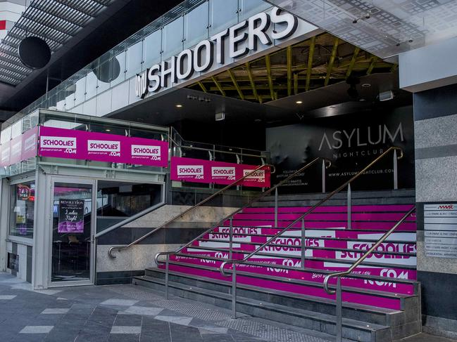 Shooters is one of the popular clubs during Schoolies. Picture: Jerad Williams