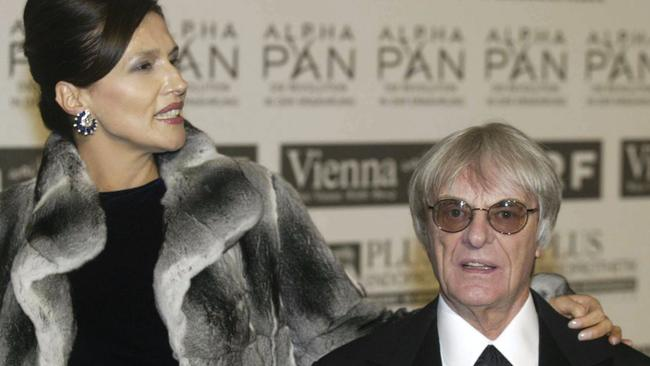One of the costliest divorces in the world: Formula One motor racing chief executive Bernie Ecclestone with wife Slavica.