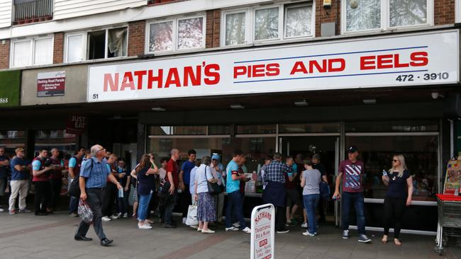 West Ham fans buy from Pies and Eels.