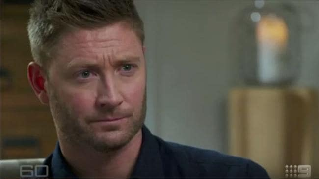 Michael Clarke appeared on 60 Minutes on Sunday.
