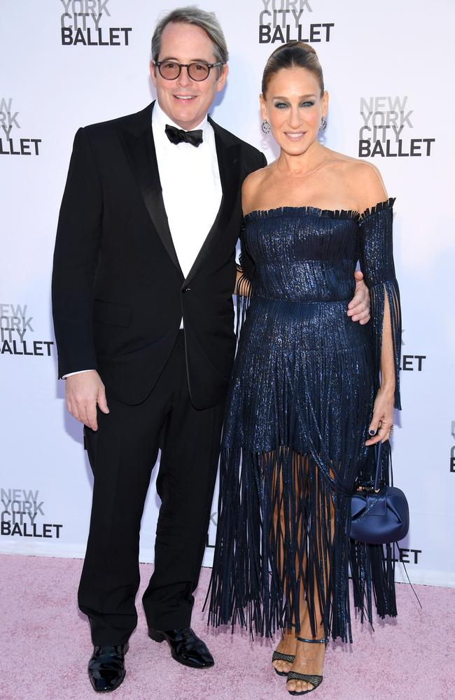 Sarah Jessica Parker, right, pictured with her husband, Matthew Broderick, at the New York City ballet. Picture: Getty Images