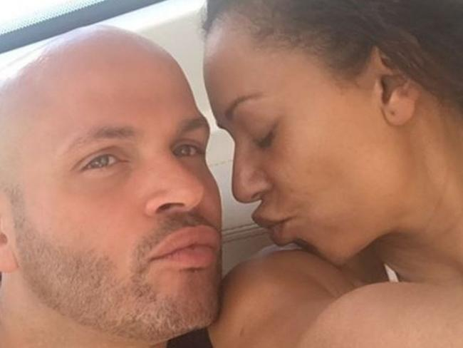 Melanie Brown and Stephen Belafonte in Sydney in 2016 in a photograph posted to her Instagram account. Picture: Instagram