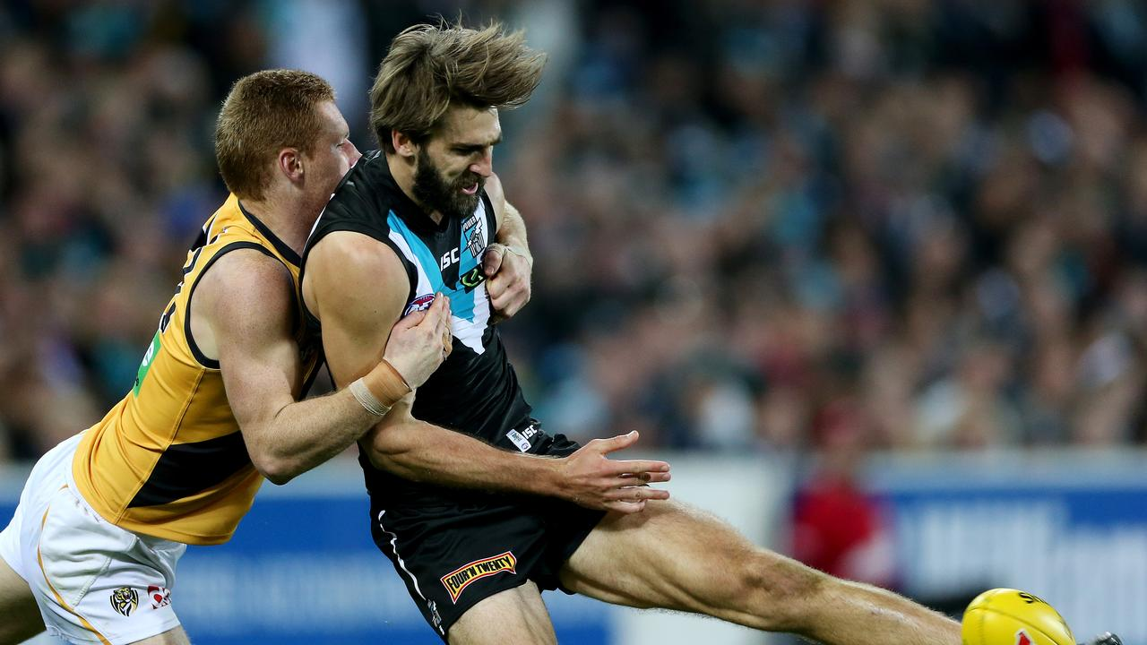 Justin Westhoff is one of the most dynamic players in the AFL