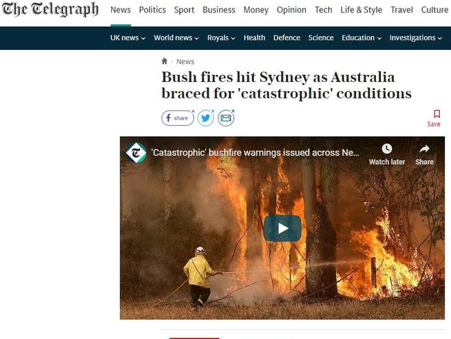 Much of global media coverage has focused on climate change — a controversial issue in Australia. Picture: Supplied