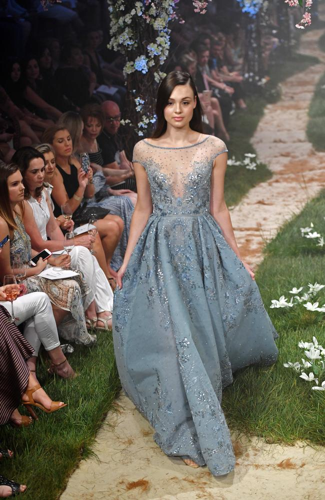 The Disney-inspired Paolo Sebastian show was the Adelaide Fashion Festival finale. Picture: Tom Huntley