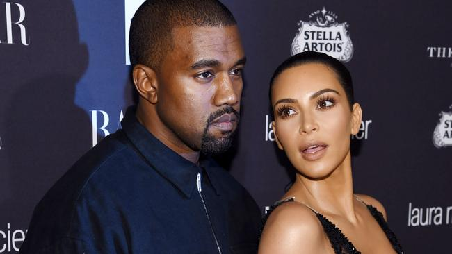 West and his wife Kim Kardashian. Picture: Dimitrios Kambouris/Getty Images for Harper's Bazaar