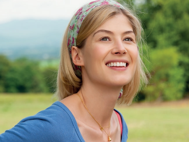 Beauty and brains ... Rosamund Pike is an Oxford graduate.