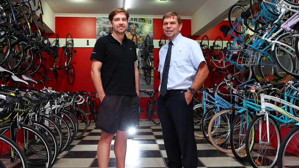Flight Centre CEO Graham Turner Right With His Son And Founder Of 99 Bikes