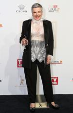 Susie Elelman arrives on the red carpet at the 59th annual TV Week Logie Awards on April 23, 2017 at the Crown Casino in Melbourne, Australia. Picture: Julie Kiriacoudis