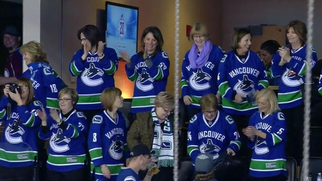 The Vancouver Canucks mums watching their sons play Colorado.