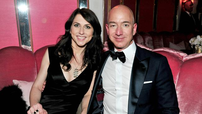 CEO of Amazon Jeff Bezos and his soon-to-be ex-wife MacKenzie Bezos. Picture: Jerod Harris