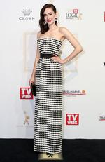 Geraldine Hakewill arrives on the red carpet at the 59th annual TV Week Logie Awards on April 23, 2017 at the Crown Casino in Melbourne, Australia. Picture: Julie Kiriacoudis