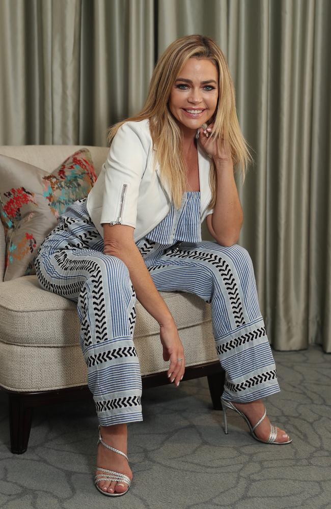 Denise Richards in Sydney earlier this year to promote RHOBH. Picture: Brett Costello