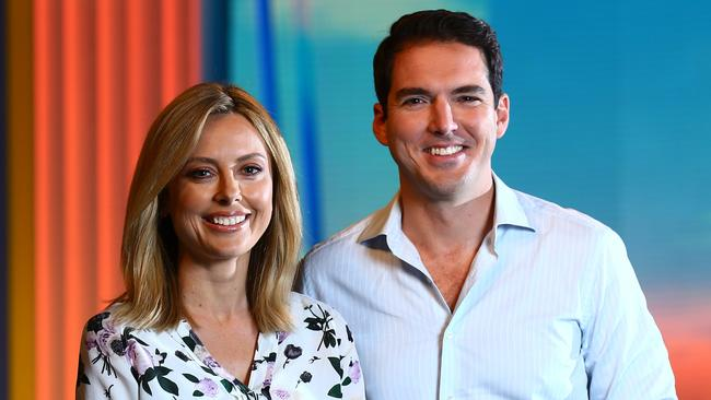 Allison Langdon and Peter Stefanovic were announced as the  <i>Weekend Today</i> co-hosts earlier this year. Picture: Britta Campion/The Australian