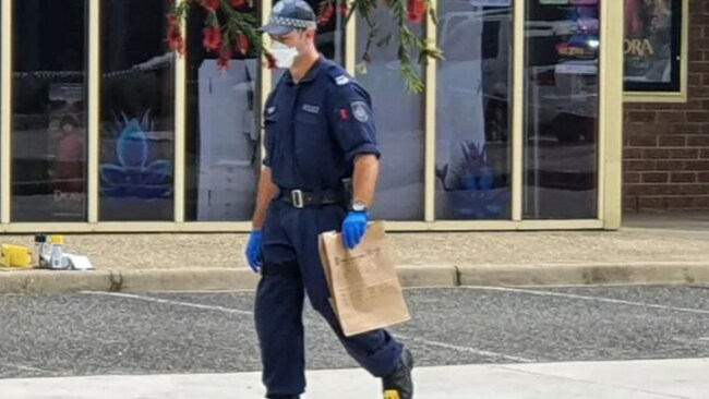 Officers at the scene in Nambucca Heads. Picture: Frank Redward Source: Supplied
