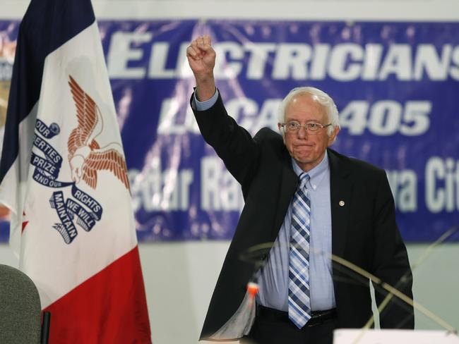 Bernie Sanders is viewed by some Democrats as too liberal to win in a general election face-off with Trump. Picture: AP