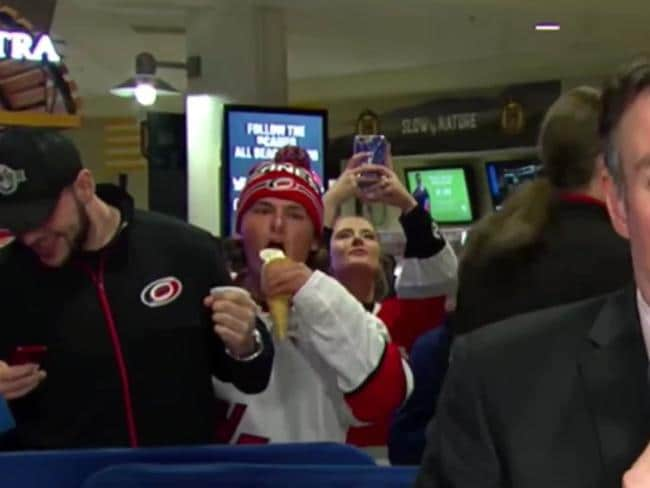 A hockey fan pulls off the crime of the year.