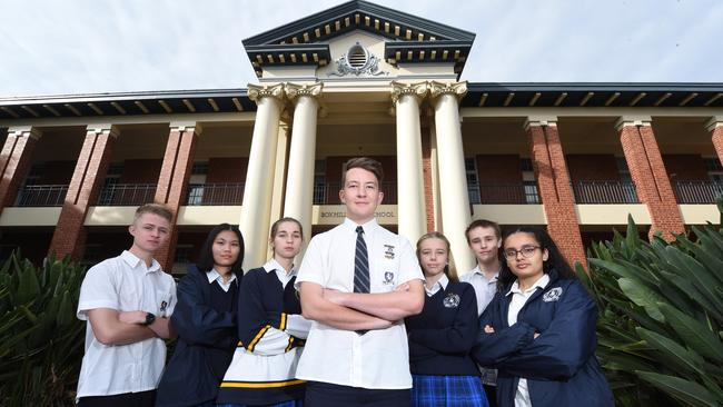 Box Hill High students want a name change for their houses. Picture: Tony Gough