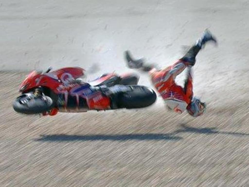 Jorge Martin copped a horror MotoGP crash.