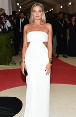 "Aussie actress Margot Robbie arrives at The Metropolitan Museum of Art Costume Institute Benefit Gala, celebrating the opening of ""Manus x Machina: Fashion in an Age of Technology"" on Monday, May 2, 2016, in New York. Picture: Evan Agostini/Invision/AP"