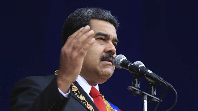 President Nicolas Maduro was not harmed in the attack.