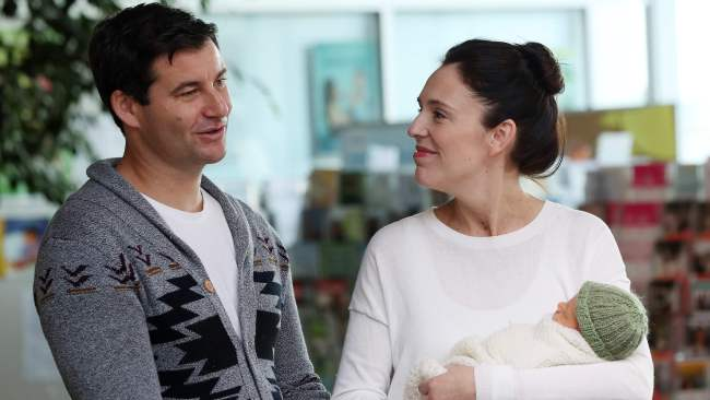 Jacinda Ardern gave birth to her daughter in June. Image: AFP.