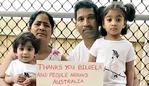 Nades Murugappan, wife Priya and children Kopika 3 and Tharunicaa 21 months - Family being held in immgration detention in Melbourne who were living in Biloela. Pic Supplied