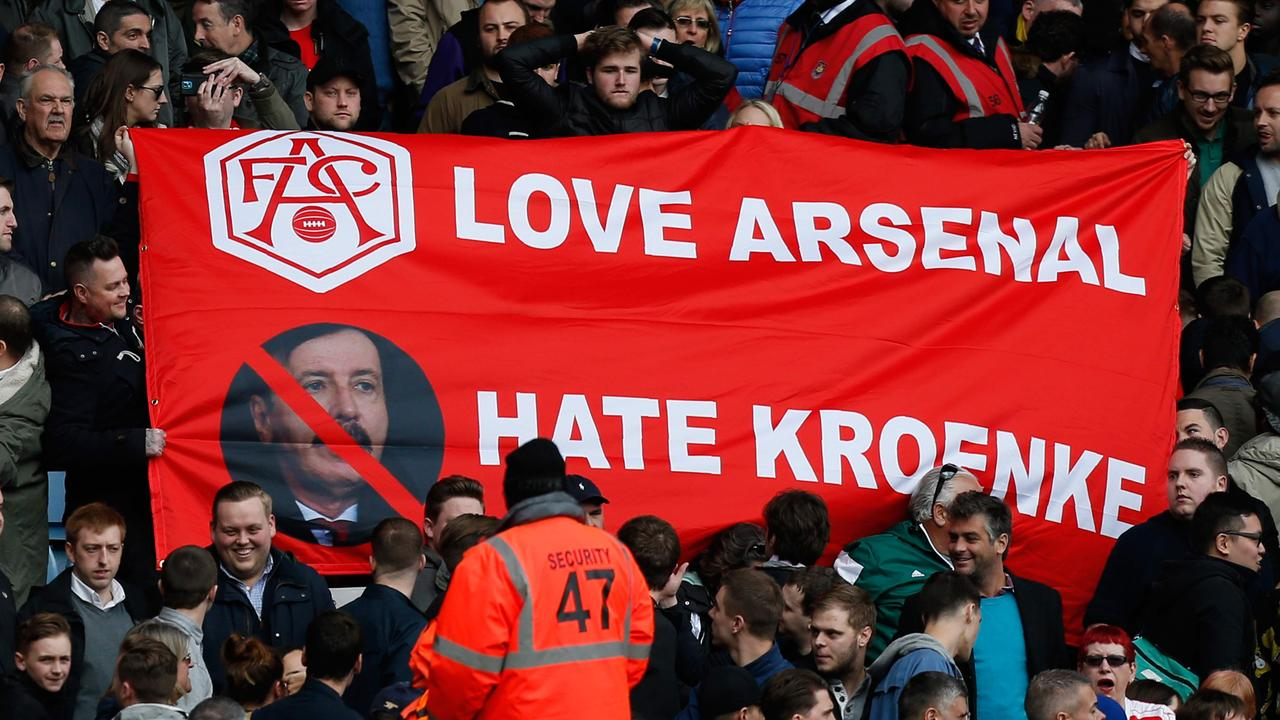 Irate fans have been zeroing in on the top brass for Arsenal's repeated failures.
