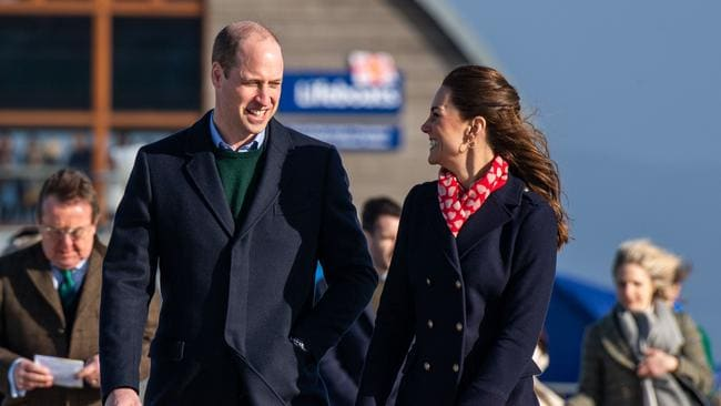 William and Kate appeared to relax the rules during their trip to Swansea. Picture: Polly Thomas/Getty Images