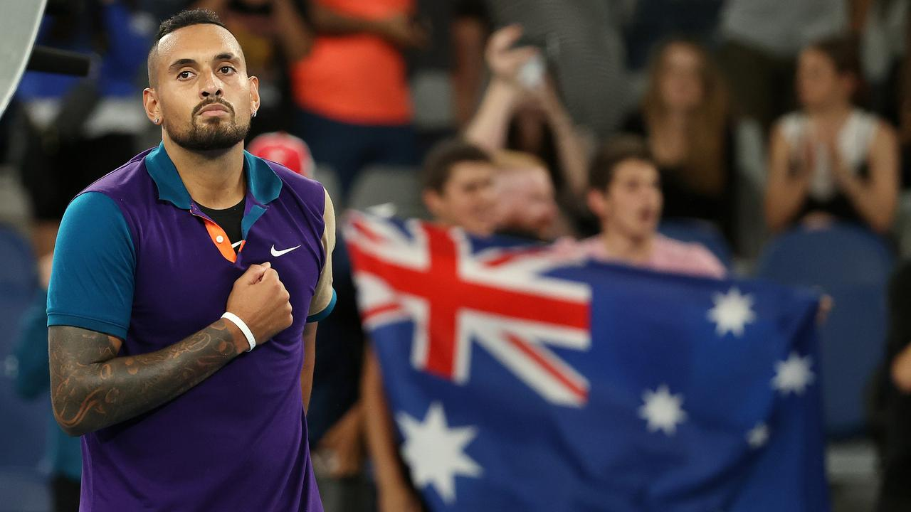 Nick Kyrgios had to dig deep to defeat Ugo Humbert in five sets. Photo: Michael Klein