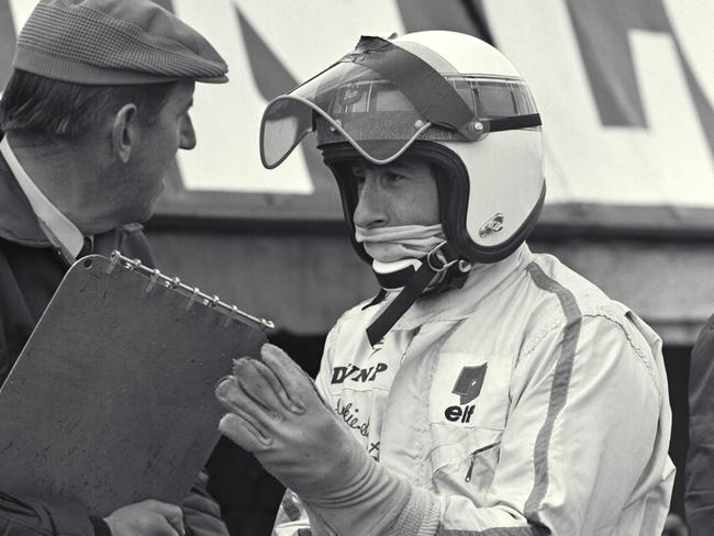 Ken Tyrrell and Jackie Stewart.