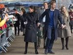 Britain's Prince Harry and fiancée Meghan Markle greets well-wishers on arrival at Cardiff Castle in Cardiff, south Wales on January 18, 2018, for a day showcasing the rich culture and heritage of Wales. Picture: AFP