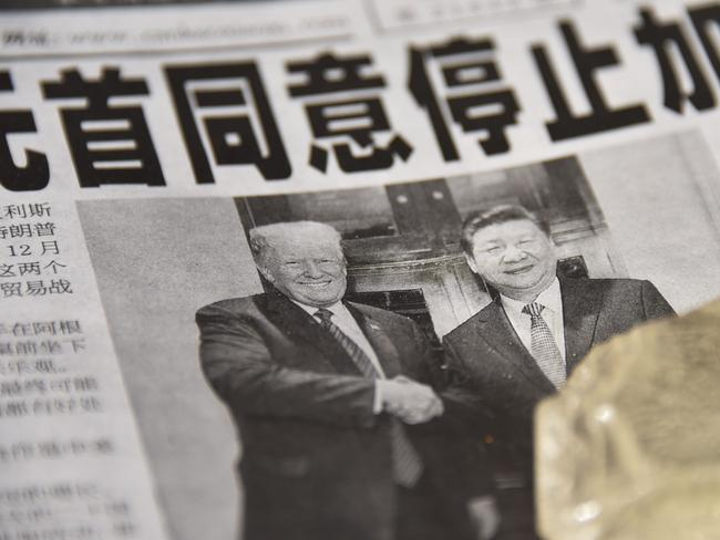 The two leaders made the front page in Beijing. Picture: AFP