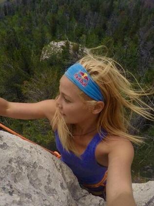 Sasha DiGuilian is no stranger to dangerous climbs.