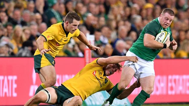 Sean Cronin of Ireland in action during the first Test at Suncorp Stadium in Brisbane.