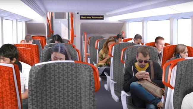 NSW's new intercity trains will have seats that cannot be flipped.