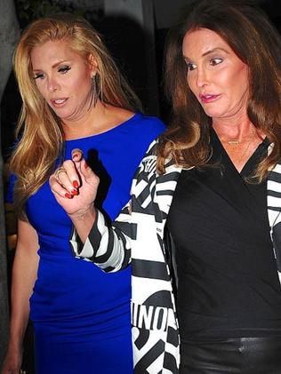 Caitlyn Jenner with her best friend Candis Cayne. Picture: Splash.