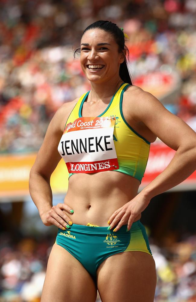 Michelle Jenneke after winning through to the final of the 100m hurdles.