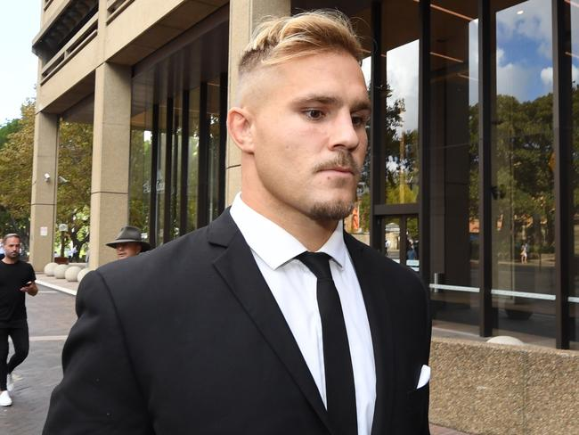 Jack De Belin leaves the NSW Federal Court in Sydney.